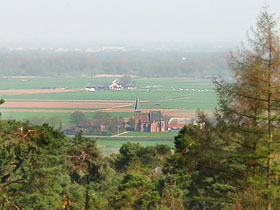View on the village Persingen in the Ooijpolder taken from the heights (glacial till) of Ubbergen