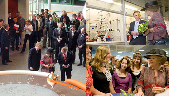 Opening of the Huygens building with Queen beatrix